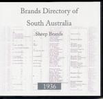Brands Directory of South Australia 1936: Sheep Brands