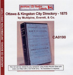 Ottawa and Kingston City Directory 1875