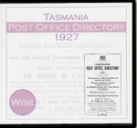 Tasmania Post Office Directory 1927 (Wise)