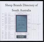 Brands Directory of South Australia 1938: Sheep Brands