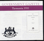 Tasmanian Government Gazette 1931
