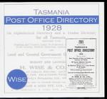 Tasmania Post Office Directory 1928 (Wise)