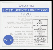 Tasmania Post Office Directory 1928 (Wise)