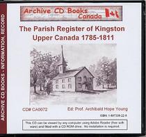 The Parish Register of Kingston, Upper Canada 1785-1811