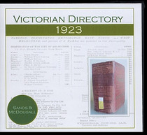 Victorian Directory 1923 (Sands and McDougall)