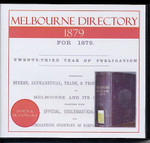 Melbourne Directory 1879 (Sands and McDougall)
