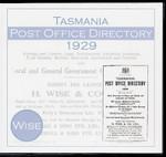 Tasmania Post Office Directory 1929 (Wise)