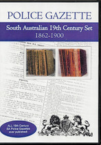South Australian Police Gazette 19th Century Set 1862-1900