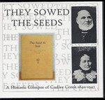They Sowed The Seeds: A Historic Glimpse of Cudlee Creek 1840-1947
