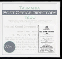 Tasmania Post Office Directory 1930 (Wise)