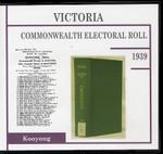 Victoria Commonwealth Electoral Roll 1939 Kooyong