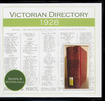Victorian Directory 1928 (Sands and McDougall)