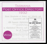 Tasmania Post Office Directory 1932 (Wise)
