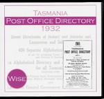 Tasmania Post Office Directory 1932 (Wise)