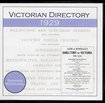 Victorian Directory 1929 (Sands and McDougall)