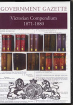 Victorian Government Gazette Compendium 1871-1880