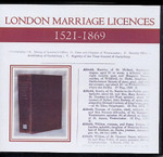 London Marriage Licences 1521-1869