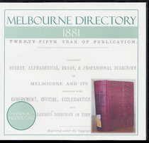 Melbourne Directory 1881 (Sands and McDougall)