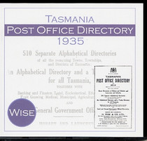 Tasmania Post Office Directory 1935-1936 (Wise)