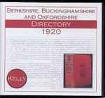 Berkshire, Buckinghamshire and Oxfordshire 1920 Kelly's Directory