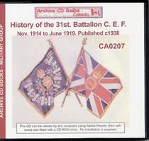 History of the 31st Canadian Infantry Battalion C.E.F., November 1914-June 1919