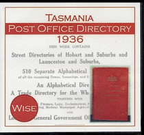 Tasmania Post Office Directory 1936 (Wise)