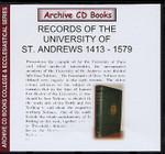 Early Records of the University of St Andrews 1413-1579
