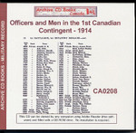 Officers and Men in the First Canadian Contingent 1914