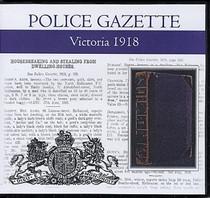 Victoria Police Gazette 1918