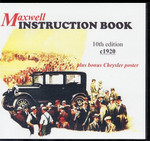 Maxwell Instruction Book 10th edition c1920, plus bonus Chrysler poster