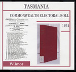 Tasmania Commonwealth Electoral Roll 1934 Wilmot