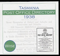 Tasmania Post Office Directory 1938 (Wise)