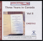 Three Years in Canada, Vol II
