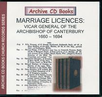 Marriage Licences Canterbury 1660-1694