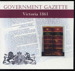 Victorian Government Gazette 1861