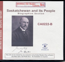 History of Saskatchewan and its People (Biographies Section)