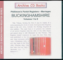 Buckinghamshire Phillimore's Parish Registers (Marriages) Volumes 1-9
