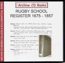 Rugby School Register, Warwickshire 1675-1857