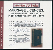 Marriage Licences Westminster 1558-1678 plus Canterbury 1660-1679