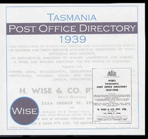 Tasmania Post Office Directory 1939 (Wise)