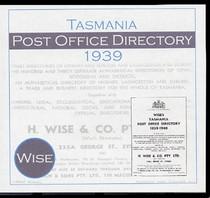 Tasmania Post Office Directory 1939 (Wise)