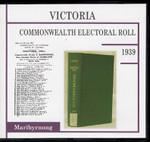 Victoria Commonwealth Electoral Roll 1939 Maribyrnong