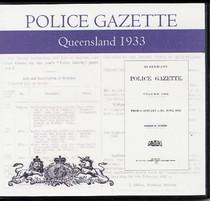Queensland Police Gazette 1933