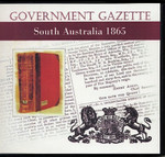 South Australian Government Gazette 1865