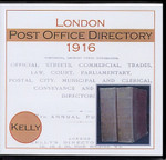 London 1916 (City) Kelly's Post Office Directory