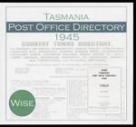 Tasmania Post Office Directory 1945 (Wise)