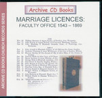 Marriage Licences Faculty Office 1543-1869