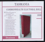 Tasmania Commonwealth Electoral Roll 1939 Denison