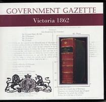 Victorian Government Gazette 1862