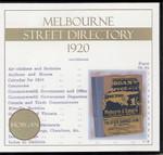 Melbourne Street Directory 1920 (Morgan)